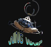 Mil Helicopter Wing Warp T-shirt Design Unisex T-Shirt