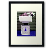 Weighed on the Scales Framed Print