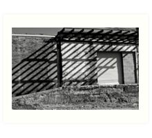shadow lines Art Print