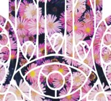 Pink Daisy Hamsa Sticker