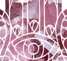Rose Crystal Hamsa Sticker