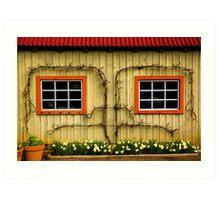 Garden Windows! Art Print