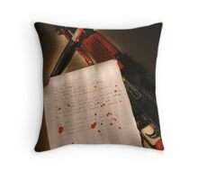 Soldier's Poem Throw Pillow