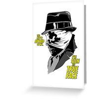 Rorschach - Watchmen Greeting Card