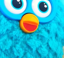 Blue Furby Birthday Sticker