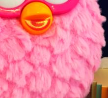 Pink Furby Birthday Sticker