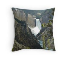 Upper Yellowstone Falls Throw Pillow