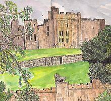 Alnwick castle by GEORGE SANDERSON