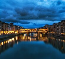 Clouds over Ponte Vecchio by aaronchoi
