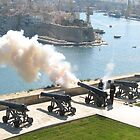 Cannon Firing - Grand Harbour, Valletta  by Rosalie M