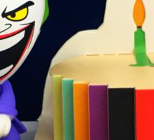 Retro Joker Birthday Sticker