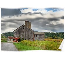 Storm Clouds and Farms Poster