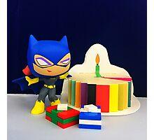 Mini Batgirl Birthday Photographic Print