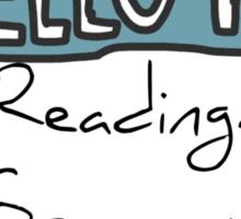 Hello I'm Reading Sticker
