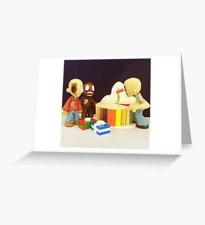 Mini Zombie Birthday Greeting Card