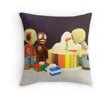 Mini Zombie Birthday Throw Pillow