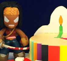 Michonne & Pets Birthday Sticker
