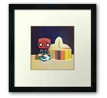 Spider-Man Birthday Framed Print