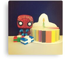 Spider-Man Birthday Canvas Print