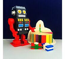 Robot Birthday Photographic Print