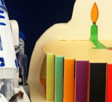 R2-D2 Birthday Sticker