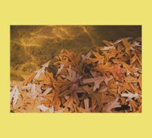 Floating Chaos - Fallen Oak Leaves in the Fountain Kids Clothes