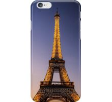 Eiffel Tower and sunset (2) iPhone Case/Skin
