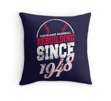 Cleveland Baseball Rebuilding Throw Pillow