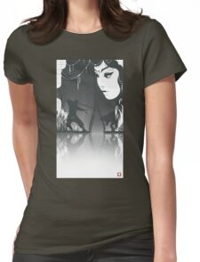 Vector Doodle -14 b&w Womens Fitted T-Shirt