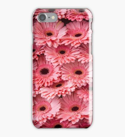 Pink Peach Gerbera. Amsterdam Flower Market iPhone Case/Skin