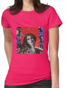 Red girl Womens Fitted T-Shirt
