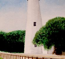 View of Oracoke Lighthouse by Tonya Johns by CoastalCarolina
