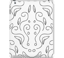 seamless pattern in black and white with a beautiful ornament iPad Case/Skin