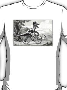 Velociraptor on a Velocipede T-Shirt