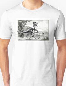 Velociraptor on a Velocipede Unisex T-Shirt