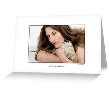 Liz Hurley lookalike Monika Kullig Greeting Card