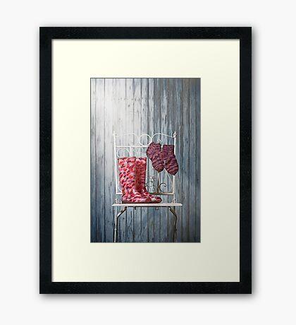 for rainy days Framed Print