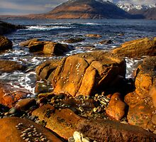Elgol Seashore, and the Cuillin Mountains, Isle of Skye, Scotland. by photosecosse /barbara jones