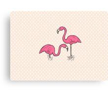Pink Flamenco Flamingos Canvas Print