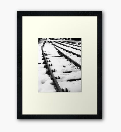 Tracks of man and steel Framed Print