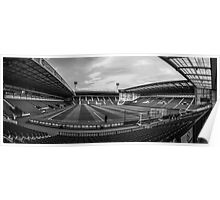 West Bromwich Albion F.C Panorama Black & White Poster