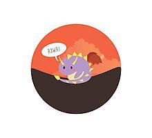Lil' Spyro roaring Photographic Print