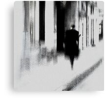 Man in old town Canvas Print