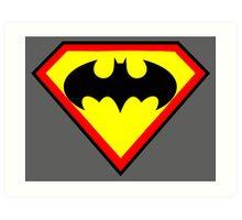 Superman and Batman Art Print