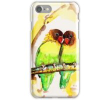 Masked Lovebird Pair iPhone Case/Skin