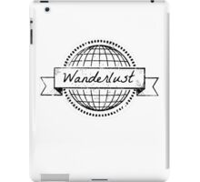 wanderlust postcard iPad Case/Skin