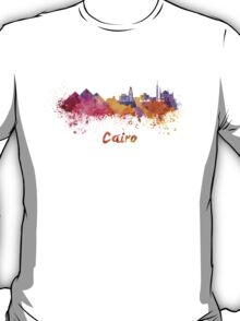Cairo skyline in watercolor T-Shirt