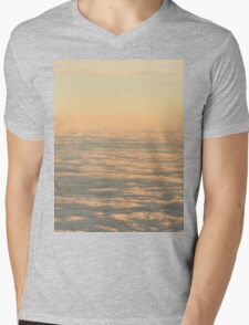 Sky with clouds in blue and pink sunset evening colors photo Mens V-Neck T-Shirt