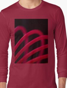 Colorful color circular art swirl abstract photograph Long Sleeve T-Shirt