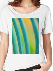 Colorful color circular art swirl abstract photograph Women's Relaxed Fit T-Shirt